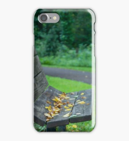Empty Seat At Dusk iPhone Case/Skin