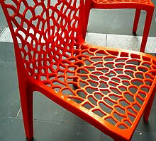 Outdoor cafe chairs by Janette Anderson