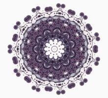 purple  mandala kaleidoscope Kids Clothes