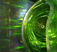 Green Is The Real Gold (Carnival Glass) by Cari Moore