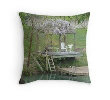Relaxing on the Lake Throw Pillow