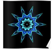 Blue Flame Kaleidoscope 01 Poster
