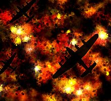 Night Raid - Lancaster Bomber by ArtPrints