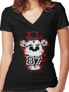 Five Nights At Freddy's - It's Me Women's Fitted V-Neck T-Shirt