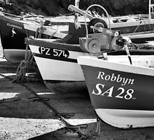 Fishing Boats at Mullion Harbour by Mooguk
