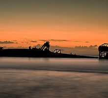 Tangalooma Wrecks by GayeL Art
