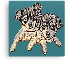 Two Pups #1 Canvas Print