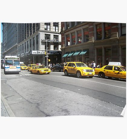 Taxi Cabs Taxis Poster
