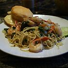 Spicy Shrimp and Bok Choy Noodle Bowl by kkphoto1