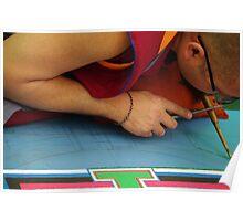 Tibetan Sand Mandala Poster