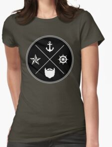 Bearded Sailor Seal Womens Fitted T-Shirt
