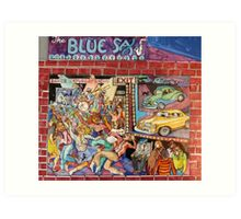 The Blue Sax Art Print