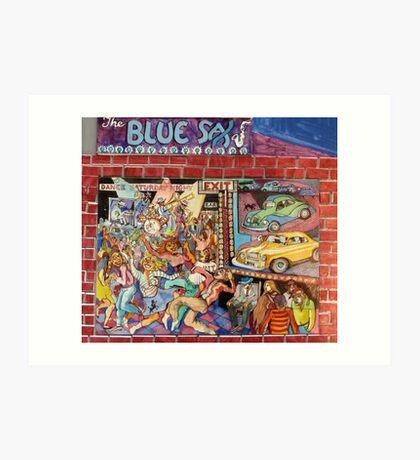 The Blue Sax Art Print