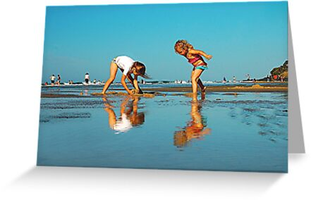 SISTERS PLAYING by Scott  d'Almeida