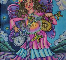 Tarot Pink Temperance by Roxiartwork