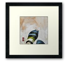 paint everything...  anything...  one at a time...  or all at once... but mirror.... Framed Print