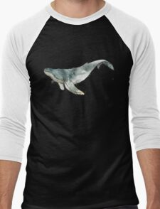 Humpback Whale Men's Baseball ¾ T-Shirt
