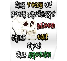 Blood Cries Out Print Poster