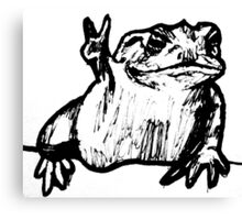 Toad of Peace Canvas Print