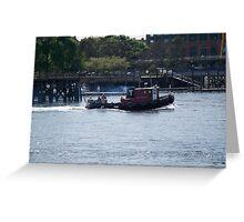 Tugboat- Prescott Park Greeting Card