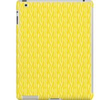Yellow Zebra Print Pattern iPad Case/Skin