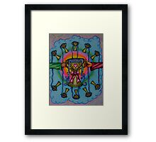 Ten of Cups Tarot Pink for Cancer Framed Print
