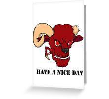 demon Greeting Card