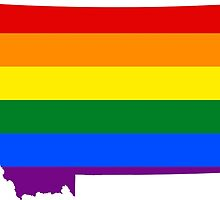 LGBT Flag Map of Montana  by abbeyz71