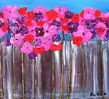 Fence Flowers by BenPotter