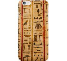 Egypt hieroglyphs, grunge seamless pattern iPhone Case/Skin