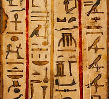 Egypt hieroglyphs, grunge seamless pattern by E ROS
