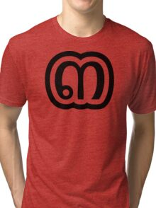 Thailand Number 3 / Three / ๓ (Sam) Thai Language Script Tri-blend T-Shirt