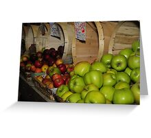 dont upset the apple cart Greeting Card