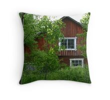 Country red Throw Pillow