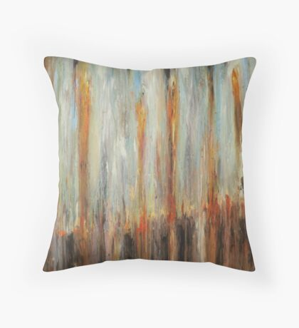 Boxcar Green and Brown Throw Pillow
