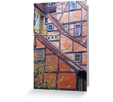 Tutor architecture in Copenhagen, Denmark Greeting Card