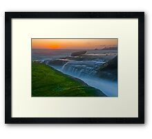 Aliso Beach ,Laguna,CA. The Edge of Night Framed Print