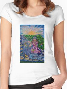Princess of Cups  Triumph of Life Tarot Women's Fitted Scoop T-Shirt