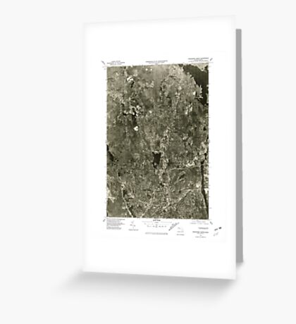 Massachusetts  USGS Historical Topo Map MA Worcester North 351450 1975 25000 Greeting Card