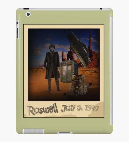 The War Doctor in Roswell iPad Case/Skin