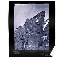 Massachusetts  USGS Historical Topo Map MA Vineyard Haven 351381 1977 25000 Inverted Poster