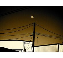 Moon Not Exactly Over Miami Photographic Print