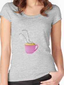 Coffee & Creamer~(C) Women's Fitted Scoop T-Shirt