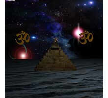OM and the space Pyramid Photographic Print