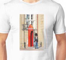 Royal guard at Amalienborg Royal Palace in Copenhagen, Denmark. Unisex T-Shirt