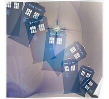 TARDIS in Lavender  Poster