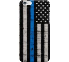 Police blue line Flag iPhone Case/Skin