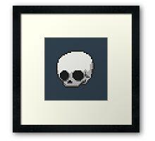 8-bit Skull Framed Print