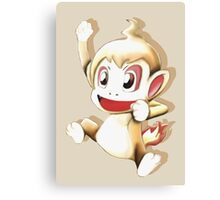 Pokemon Chimchar Cheers  Canvas Print