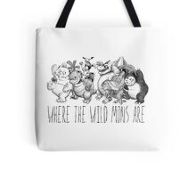 Where the Wild Mons Are Tote Bag